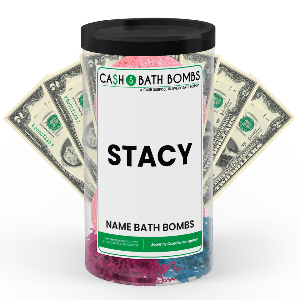 STACY Name Cash Bath Bomb Tube