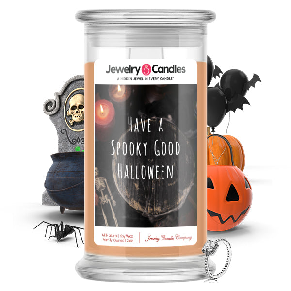 Have a spooky good halloween Jewelry Candle