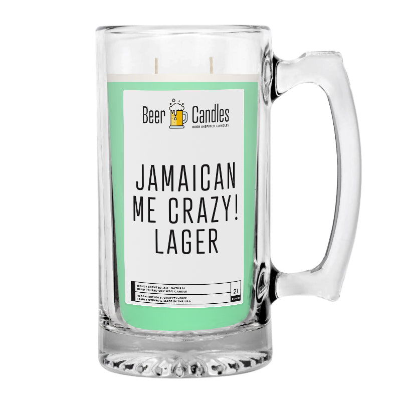 Jamaican Me Crezy! Lager Beer Candle