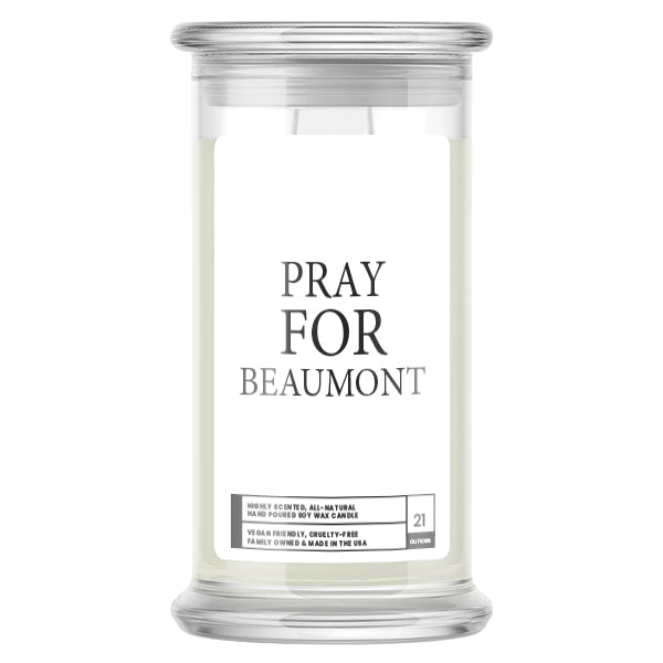 Pray For Beaumont Candle