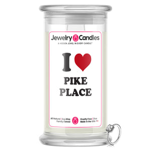 I Love PIKE PLACE Landmark Jewelry Candles
