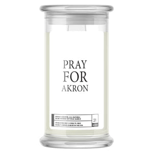 Pray For Akron Candle