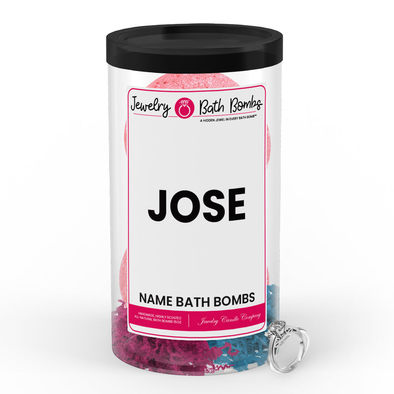 JOSE Name Jewelry Bath Bomb Tube