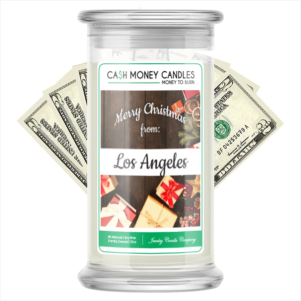 Merry Christmas From LOS ANGELES Cash Money Candles