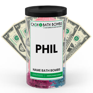 PHIL Name Cash Bath Bomb Tube