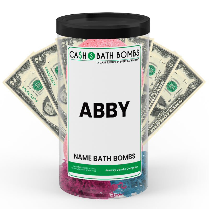 ABBY Name Cash Bath Bomb Tube