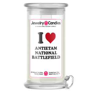 I Love ANTIETAM NATIONAL BATTLEFIELD Landmark Jewelry Candles