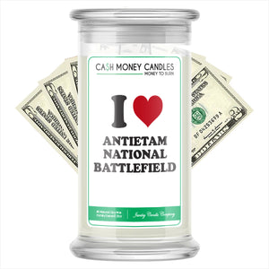 I Love ANTIETAM NATIONAL BATTLEFIELD Landmark Cash Candles