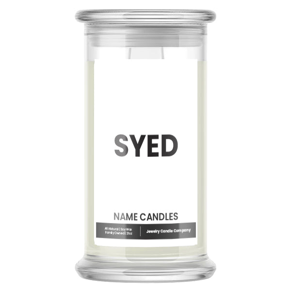 SYED Name Candles