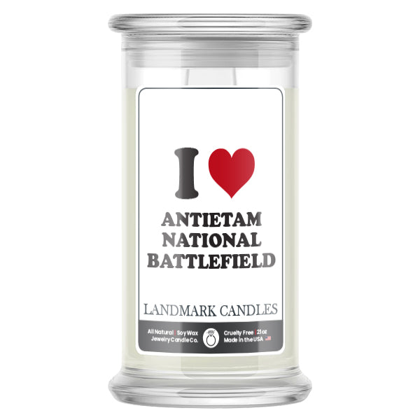 I Love ANTIETAM NATIONAL BATTLEFIELD Landmark Candles