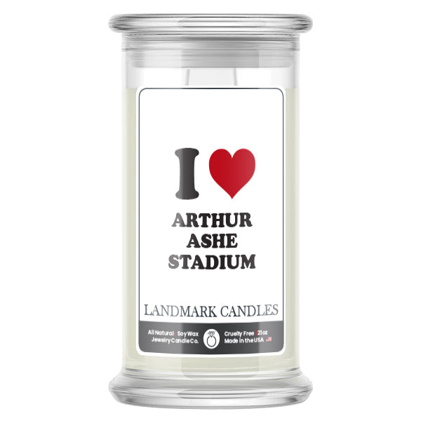 I Love ARTHUR ASHE STADIUM Landmark Candles