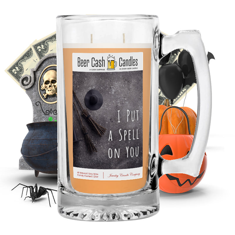 I pull a spell on you Beer Cash Candle