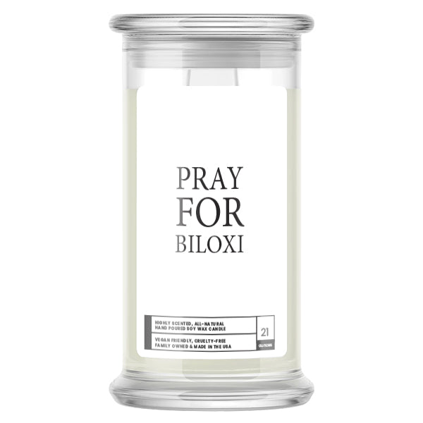 Pray For Biloxi Candle