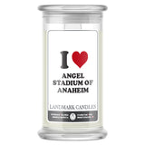 I Love ANGEL STADIUM OF ANAHEIM Landmark Candles