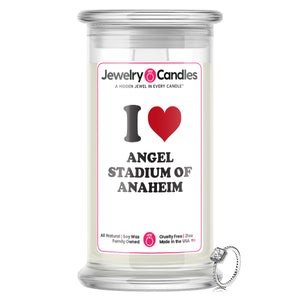 I Love ANGEL STADIUM OF ANAHEIM Landmark Jewelry Candles
