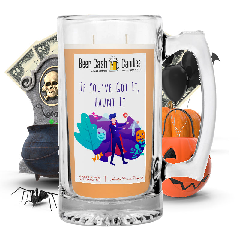I'm in october frame of mind Beer Cash Candle