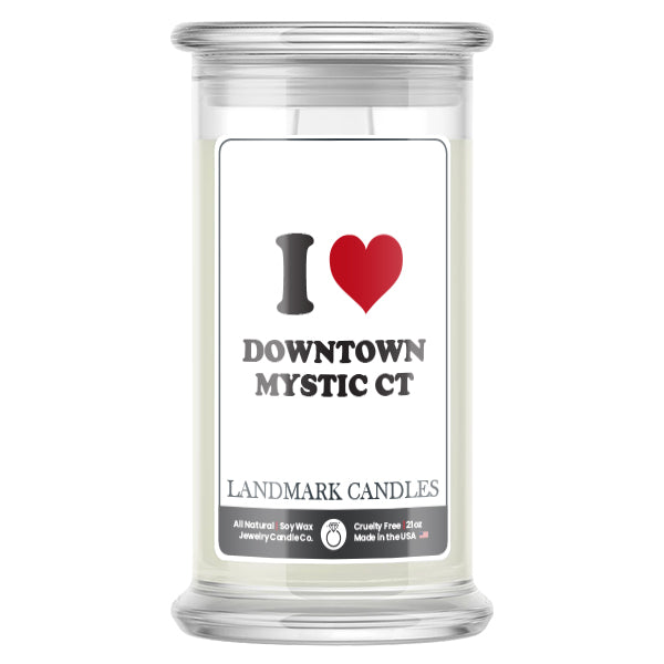 I  Love DOWNTOWN MYSTIC CT Landmark Candles