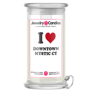 I Love DOWNTOWN MYSTIC CT Landmark Jewelry Candles