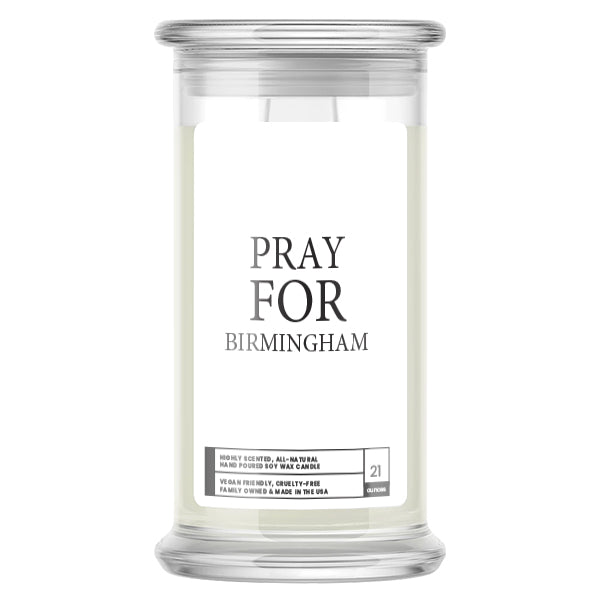 Pray For Birmingham Candle