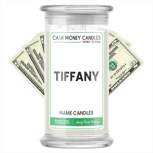 TIFFANY Name Cash Candles
