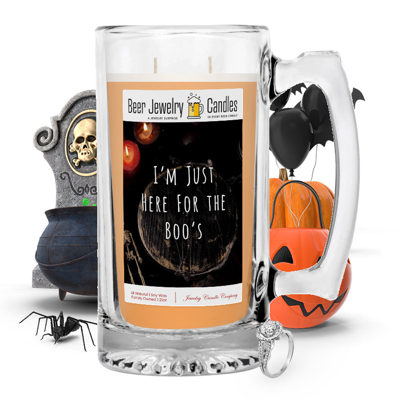 I'm just here for boo's Beer Jewelry Candle