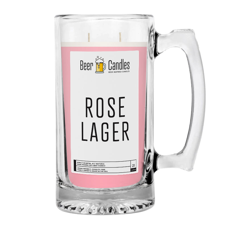 Rose Lager  Beer Candle