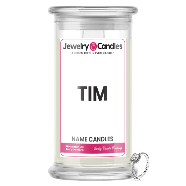 TIM Name Jewelry Candles