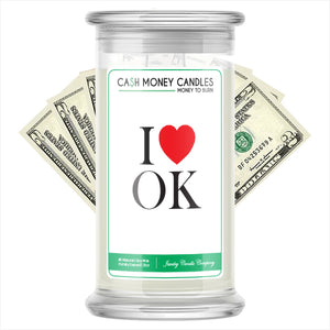 I Love OK Cash Money State Candles