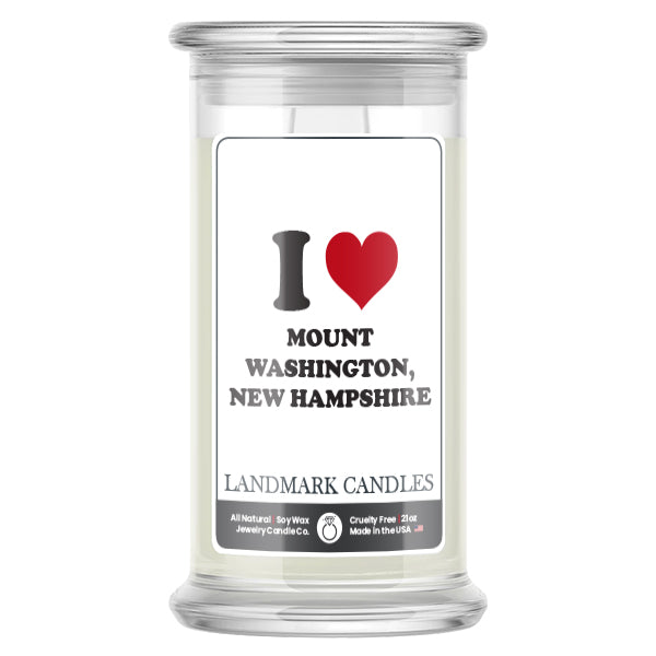 I Love MOUNT WASHINGTON, NEW HAMPSHIRE Landmark Candles