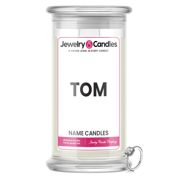 TOM Name Jewelry Candles