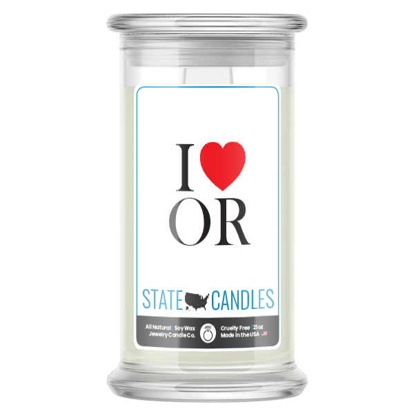 I Love OR State Candles