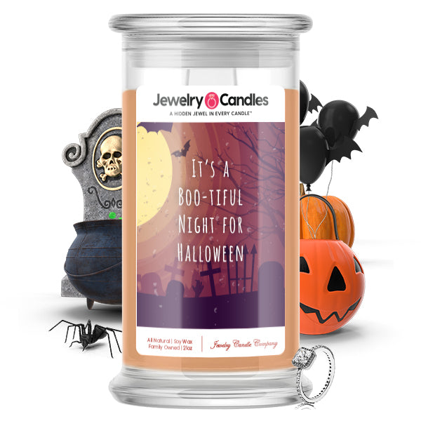 It's a boo-tiful night for halloween Jewelry Candle