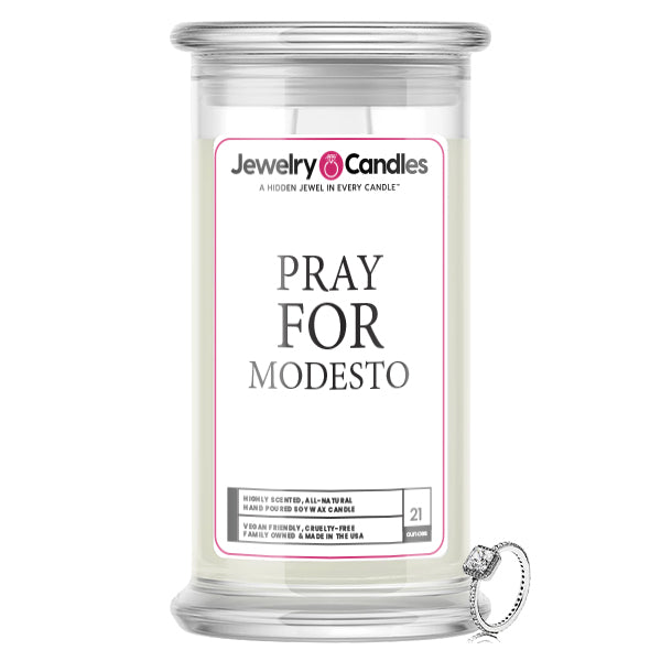 Pray For Modesto Jewelry Candle