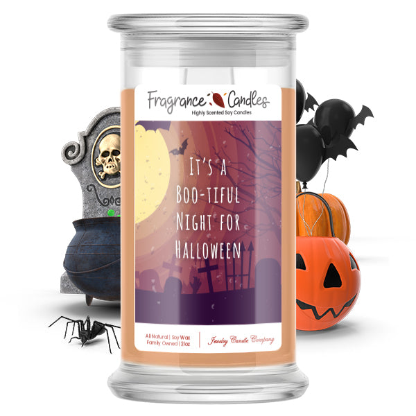 It's a boo-tiful night for halloween Fragrance Candle