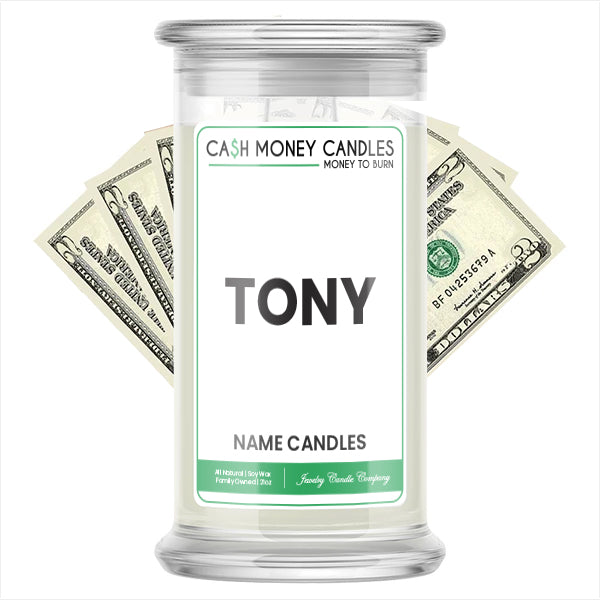 TONY Name Cash Candles
