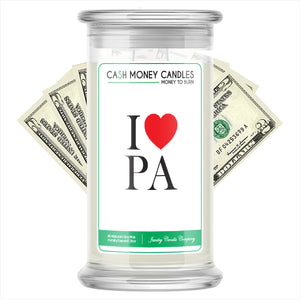 I Love PA Cash Money State Candles