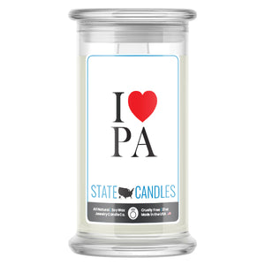 I Love PA State Candles