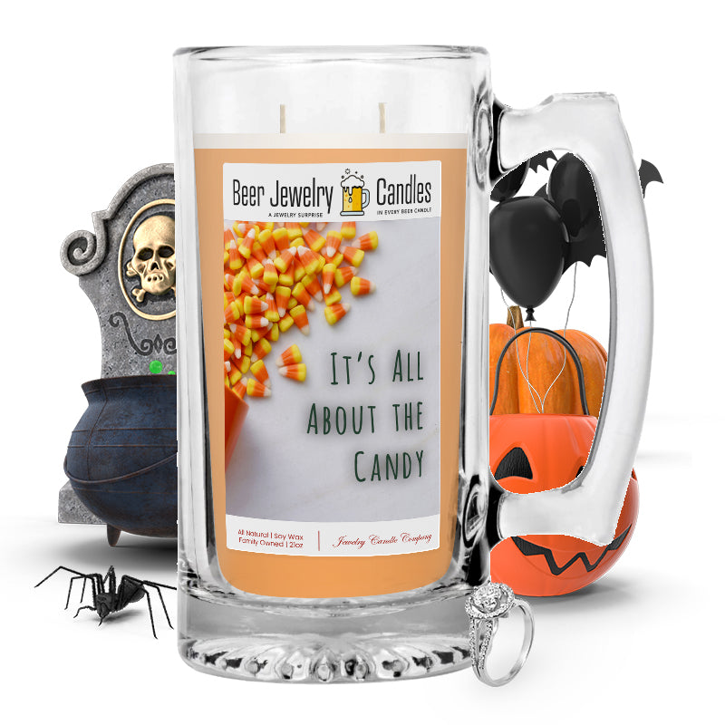 It's all about the candy Beer Jewelry Candle