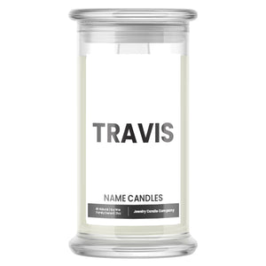 TRAVIS Name Candles