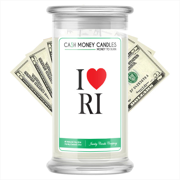 I Love RI Cash Money State Candles