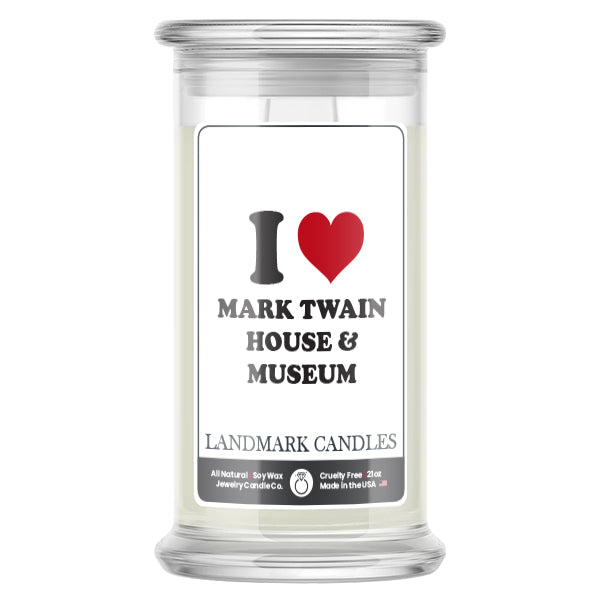 I Love MARK TWAIN HOUSE & MUSEUM Landmark Candles