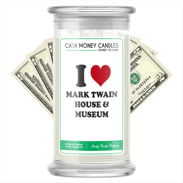 I Love MARK TWAIN HOUSE & MUSEUM Landmark Cash Candles