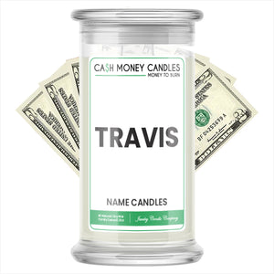 TRAVIS Name Cash Candles
