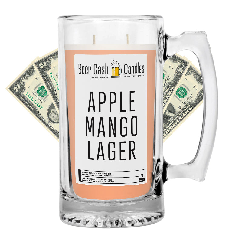 Apple Mango Lager Beer Cash Candle