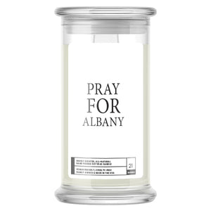 Pray For Albany Candle