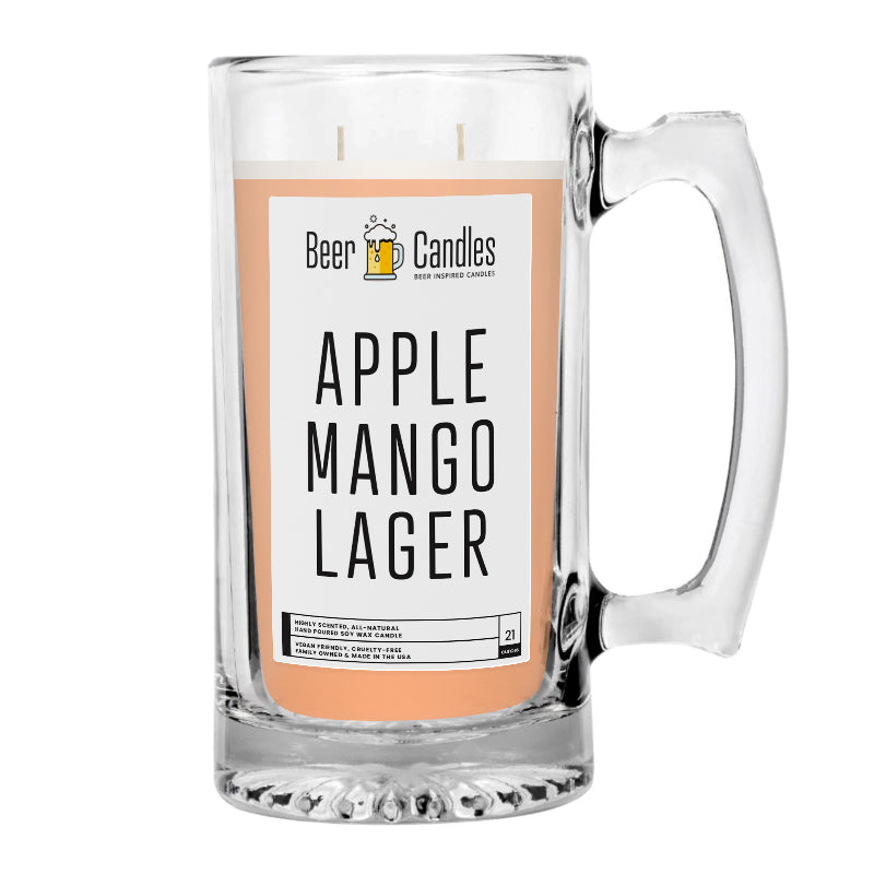 Apple Mango Lager Beer Candle