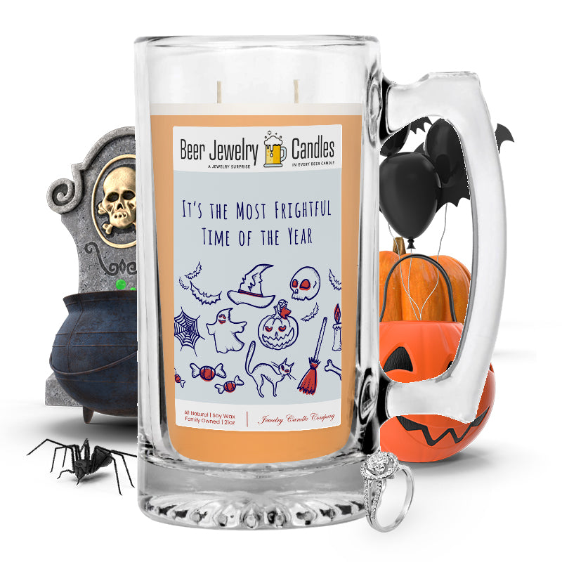 It's the most frightful time of the year Beer Jewelry Candle
