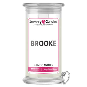 BROOKE Name Jewelry Candles