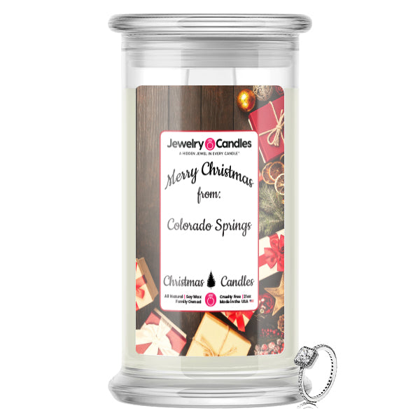 Merry Christmas From COLORADO SPRINGS Jewelry Candles
