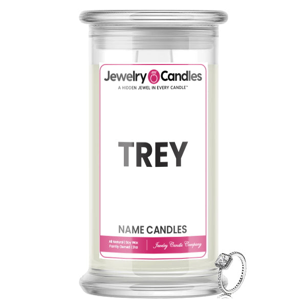TREY Name Jewelry Candles